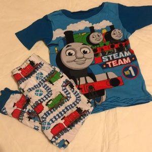 Thomas the tank engine pajamas